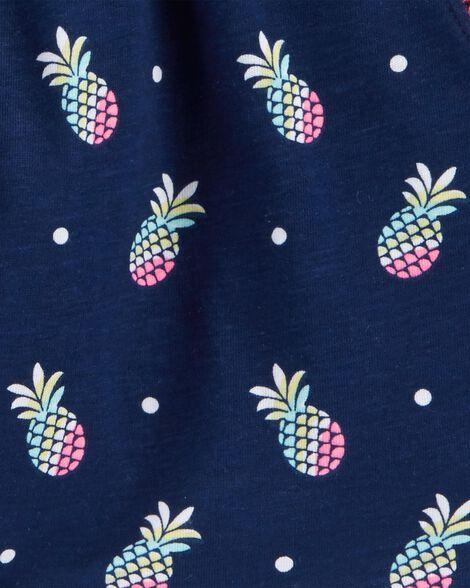 Pineapple Pom-Trim Shorts