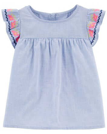 New Girl/'s White Top Shirt NWT Toddler Kids Size 12m Osh Kosh Oshkosh NYC Stars