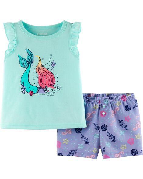 2-Piece Mermaid PJs