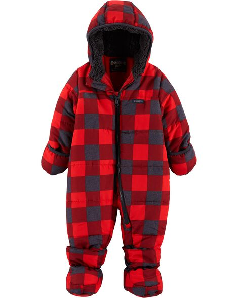 05d8777f56cc Buffalo Check One-Piece Snowsuit