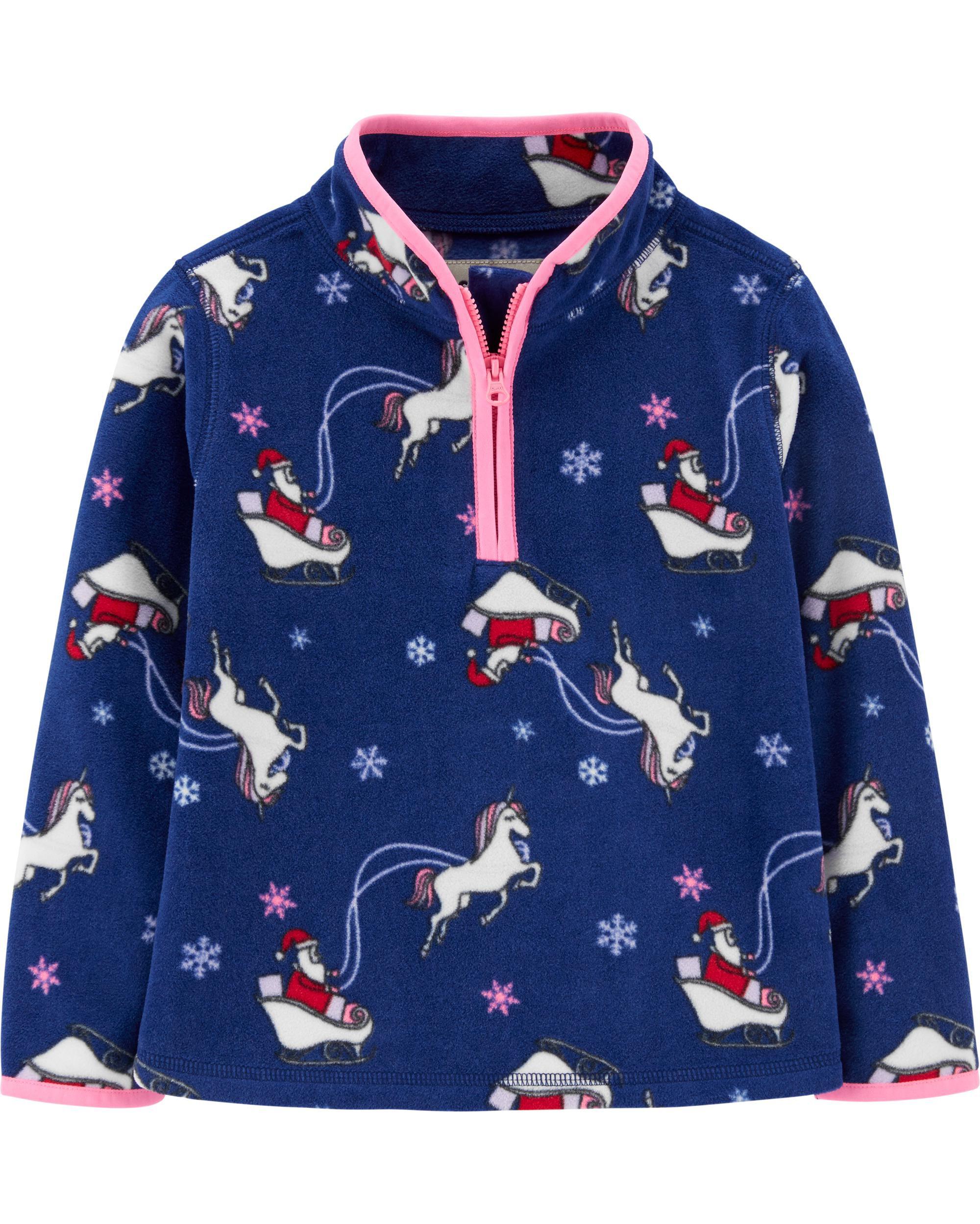 *CLEARANCE*Christmas Unicorn B'gosh Fleece Cozie