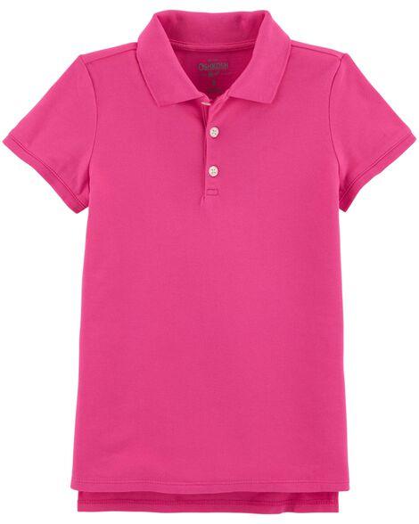 Stretch Pique Uniform Polo