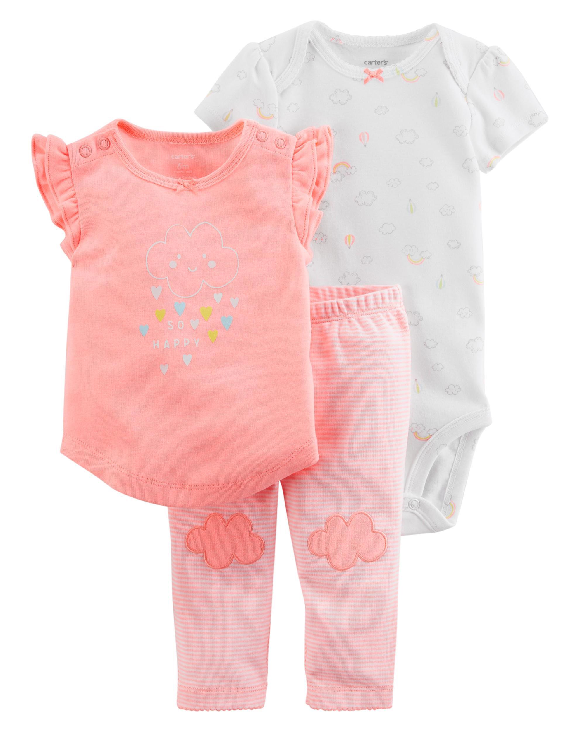 23717112b334 Baby Girl 3-Piece Neon Little Character Set
