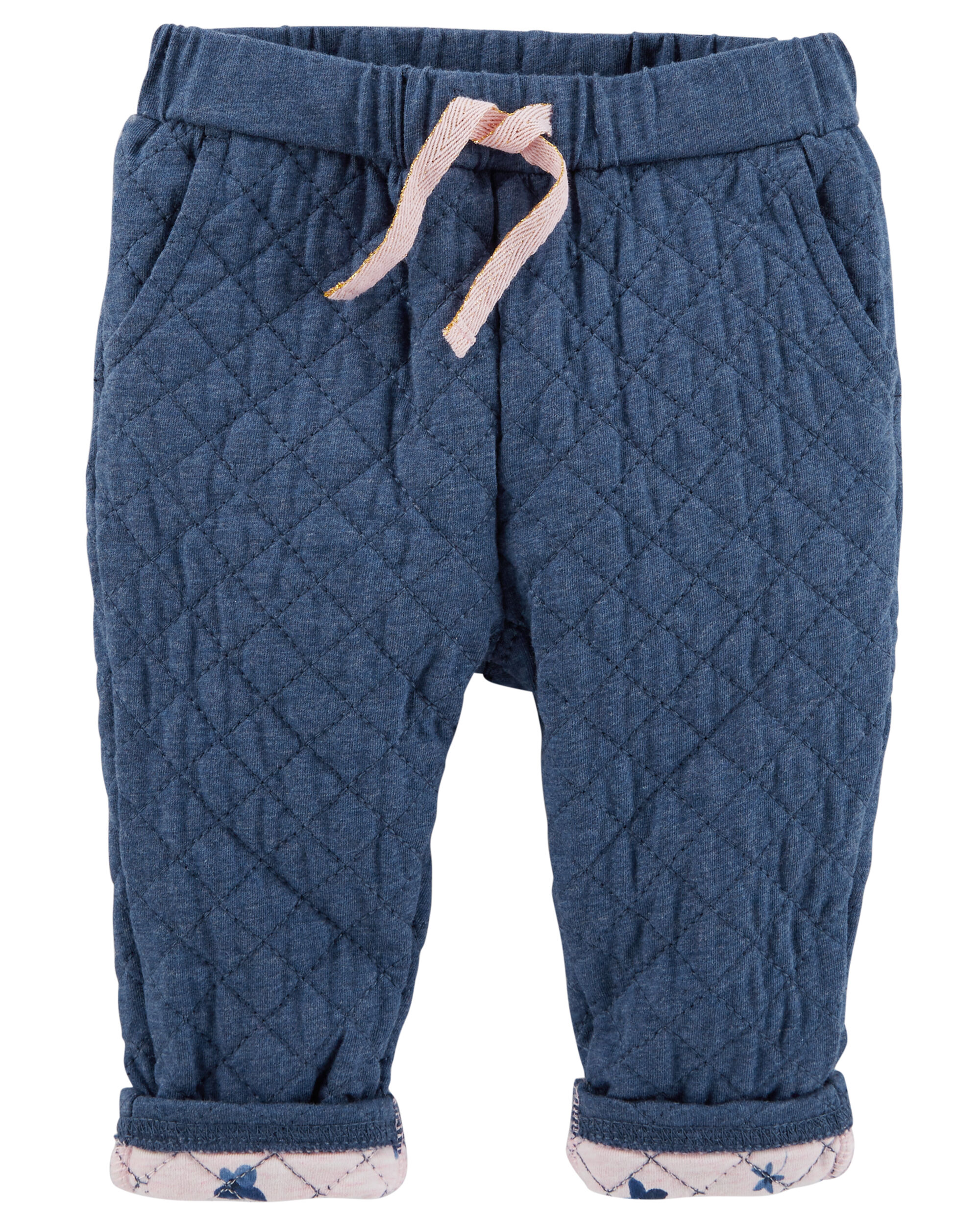 Quilted Jersey Pull-On Pants