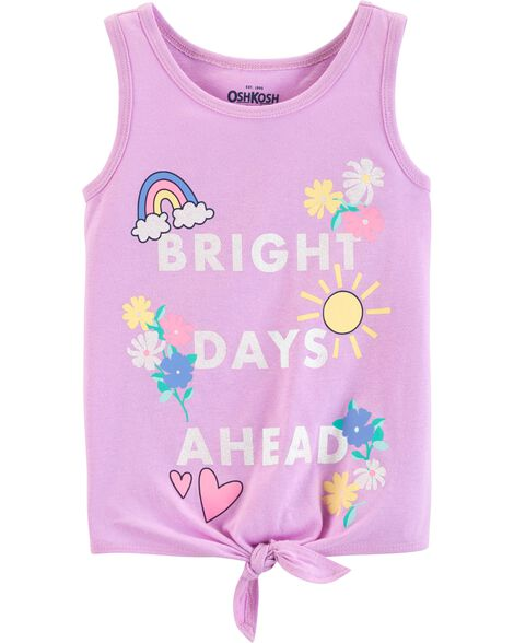 Bright Days Ahead Tie-Front Tank