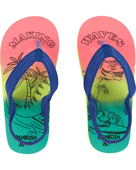 d67f1d0ab872 OshKosh Making Waves Dino Flip Flops ...