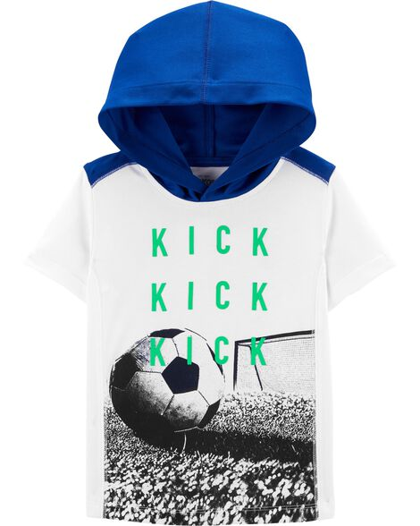Soccer Hooded Active Tee