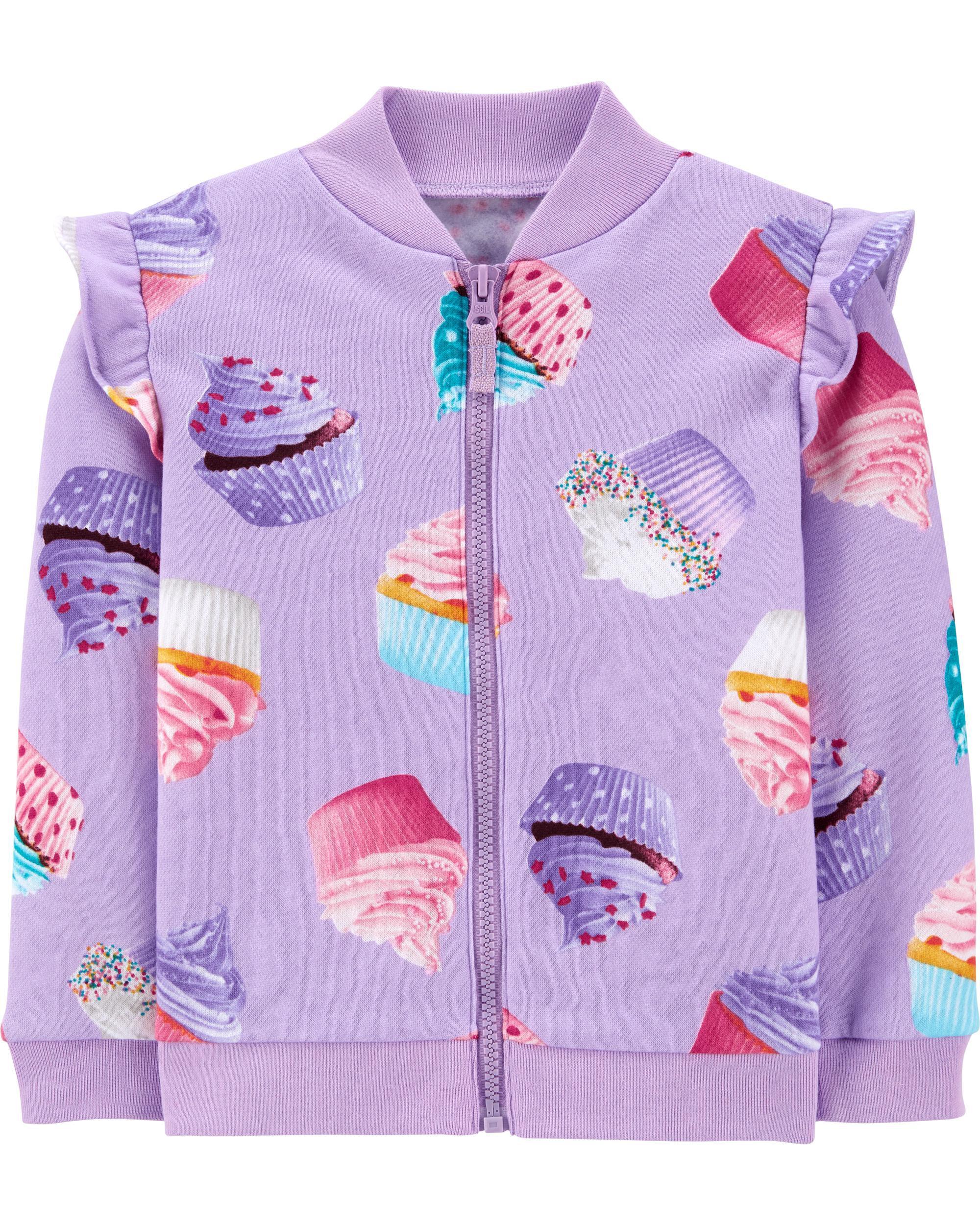 *CLEARANCE*Cupcake Zip-Up Fleece Jacket