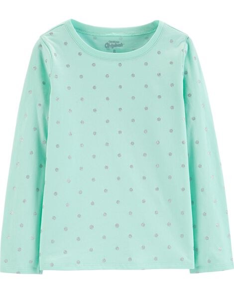 Jersey Polka Dot Top