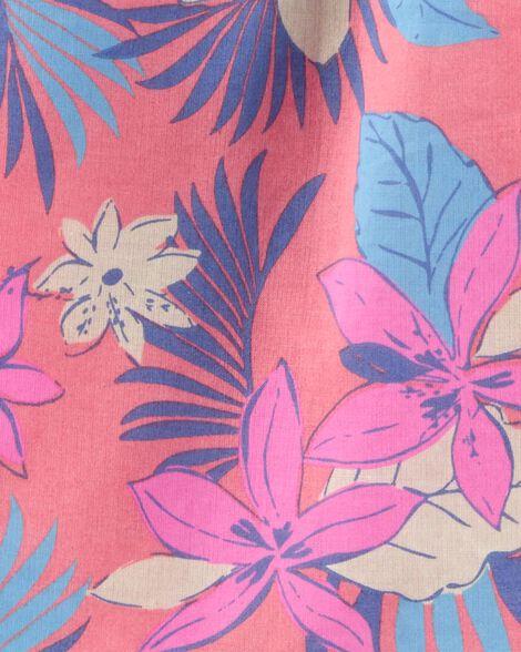Tropical Floral Cold Shoulder Top