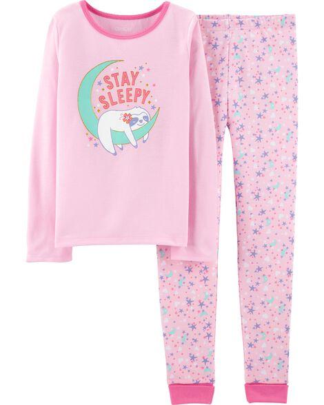 2-Piece Sleepy Sloth PJs