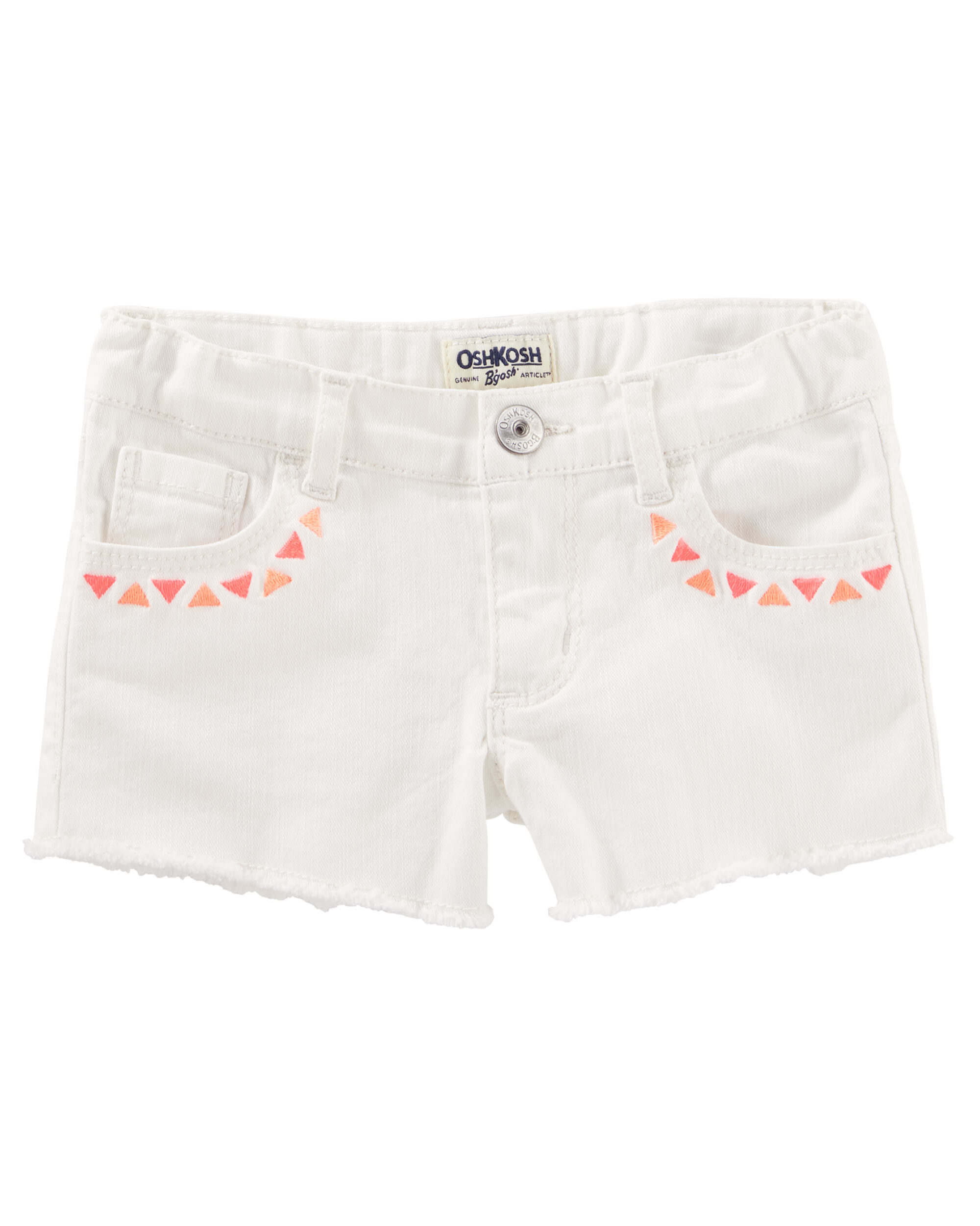 Embroidered Twill Shorts
