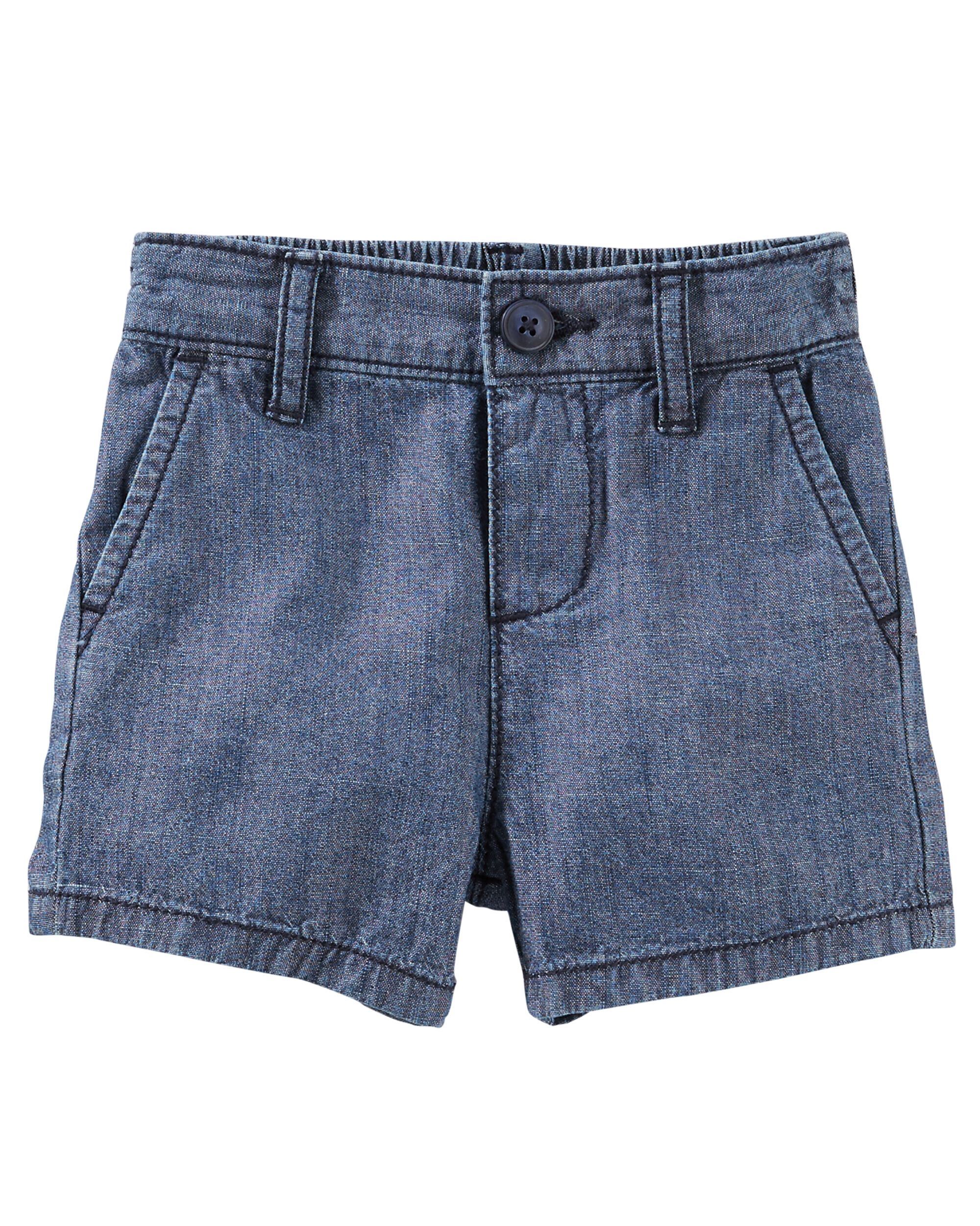 Chambray Uniform Shorts