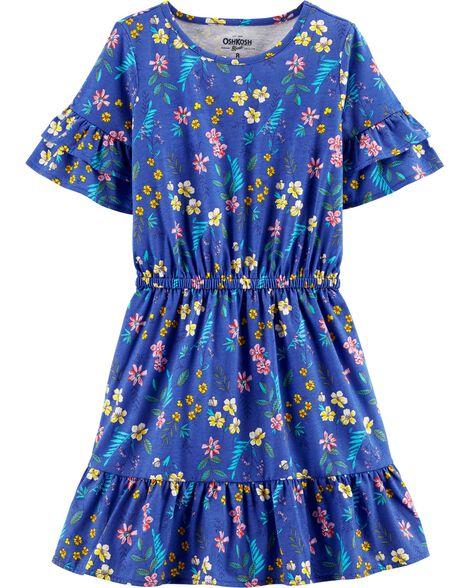 9b3204c47a75 Double Ruffle Sleeve Floral Dress | OshKosh.com