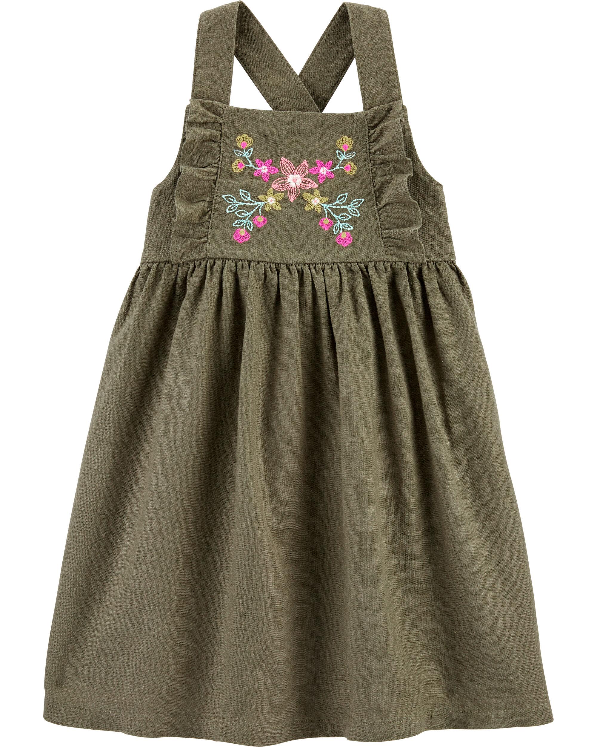 *DOORBUSTER*Embroidered Floral Linen Dress