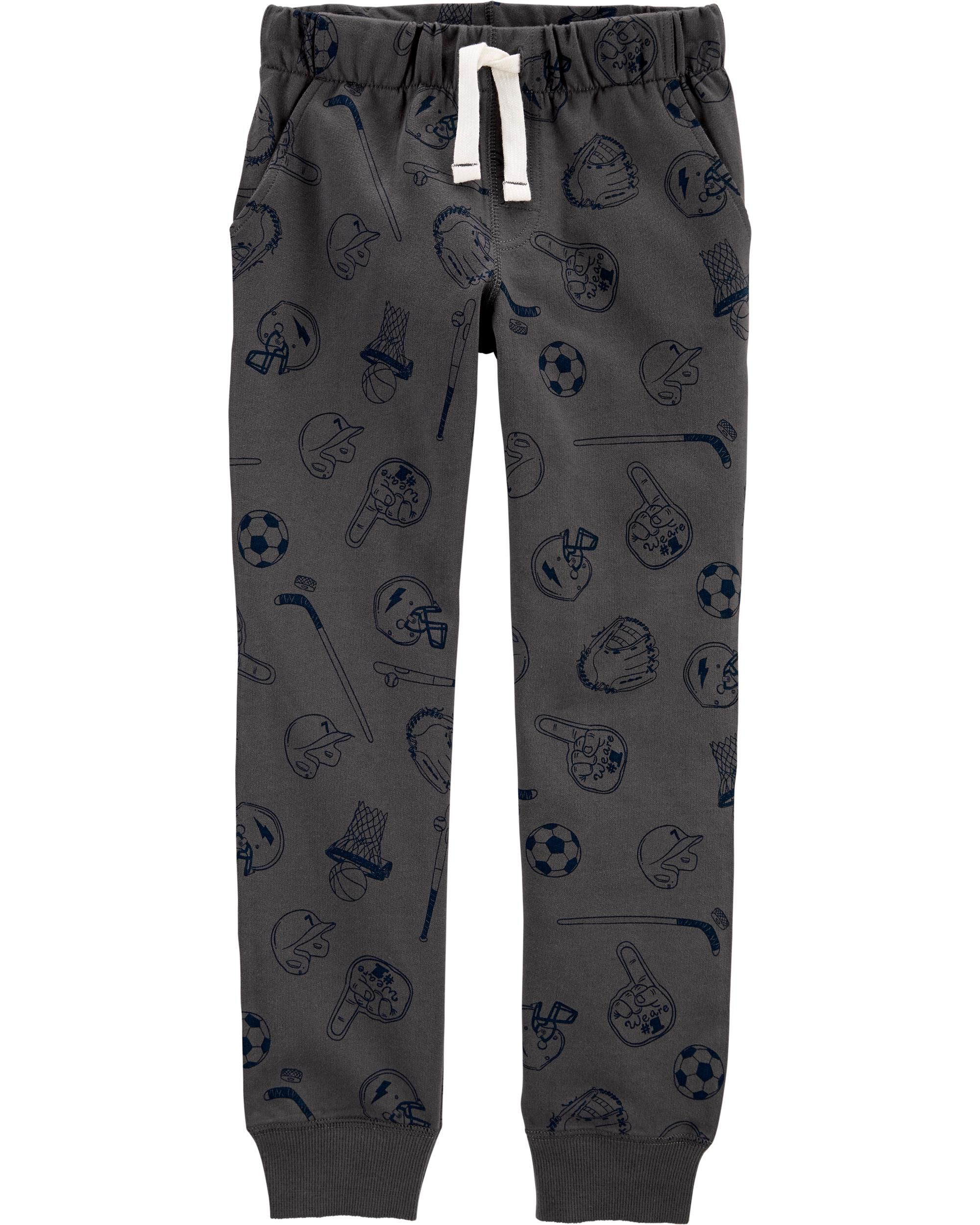 *DOORBUSTER*Sports Pull-On French Terry Joggers