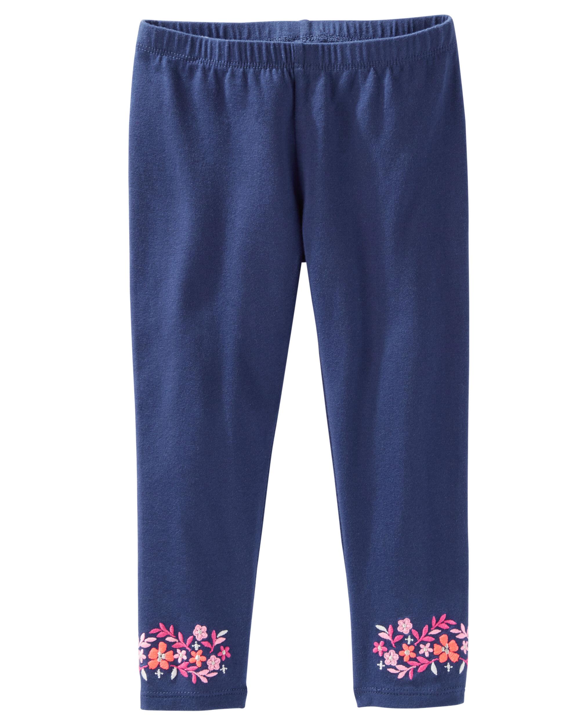 OshKosh BGosh Stretch Floral Jeans Size 8 Blue