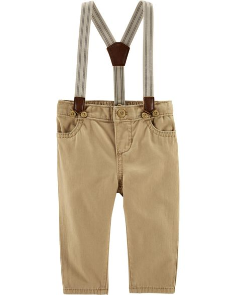 Suspender Twill Pants