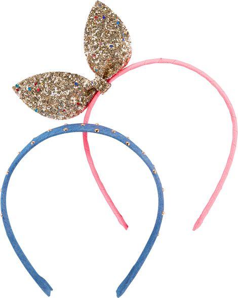 2-Pack Bow & Dot Headbands