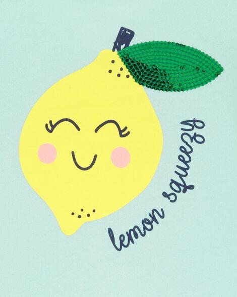 Lemon Peplum Hem Top