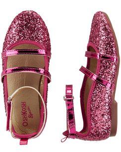 6e8ff88e927b OshKosh Glitter Ballet Flats
