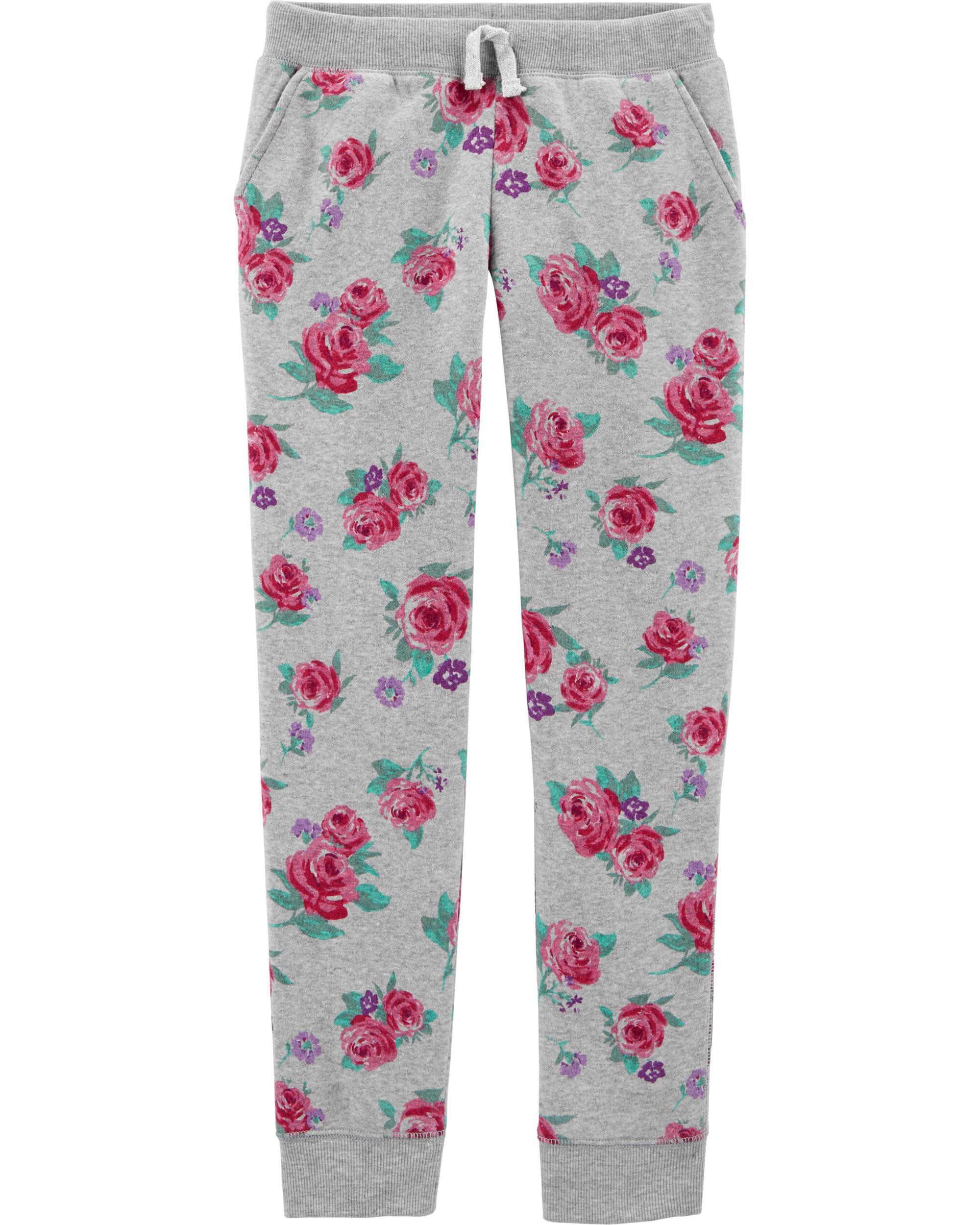 *CLEARANCE*Logo Fleece Floral Pants