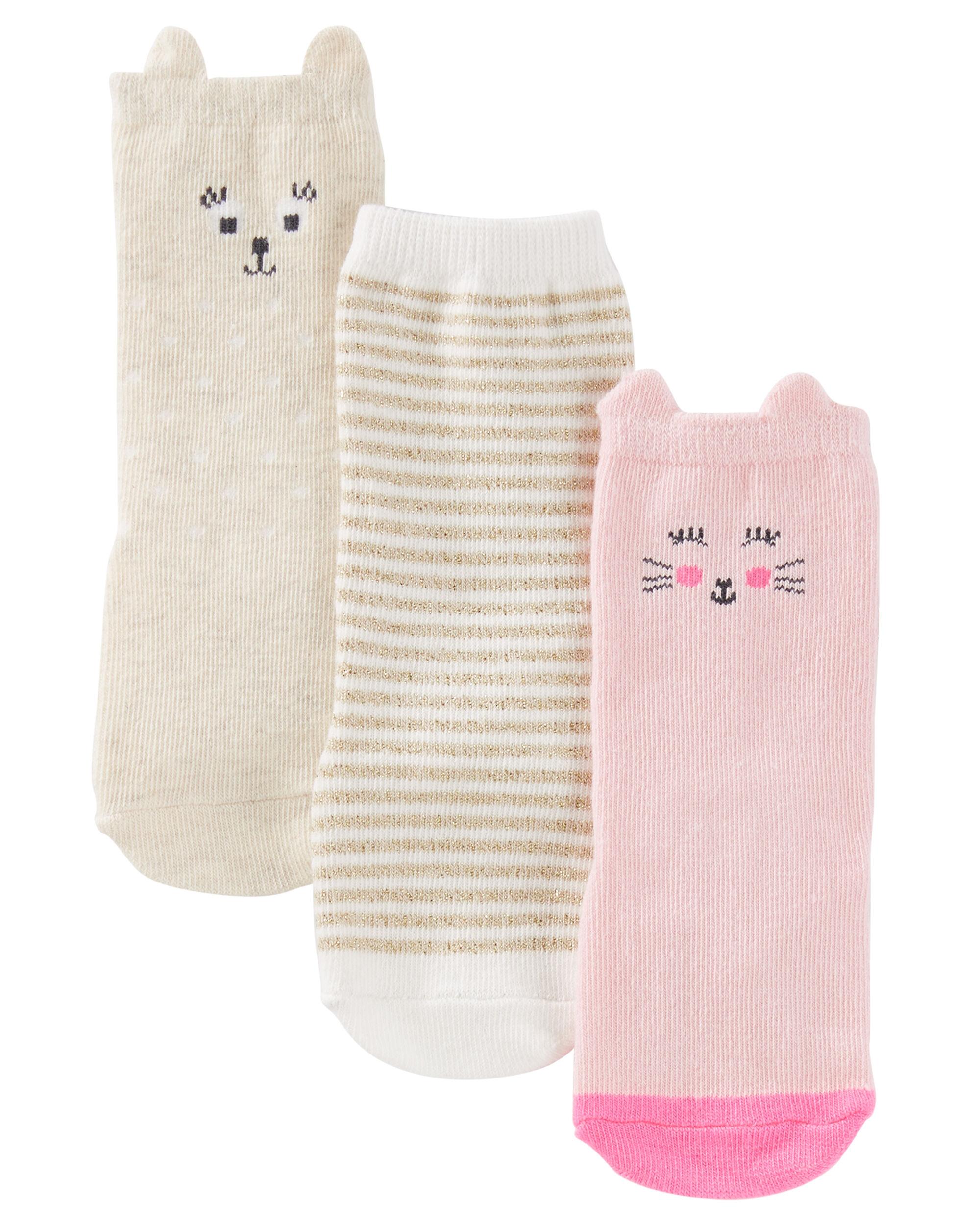 3 Pack Knee High Animal Socks