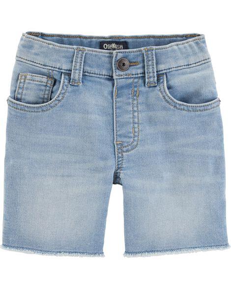 Raw Hem Shorts - Bleached Bright Wash