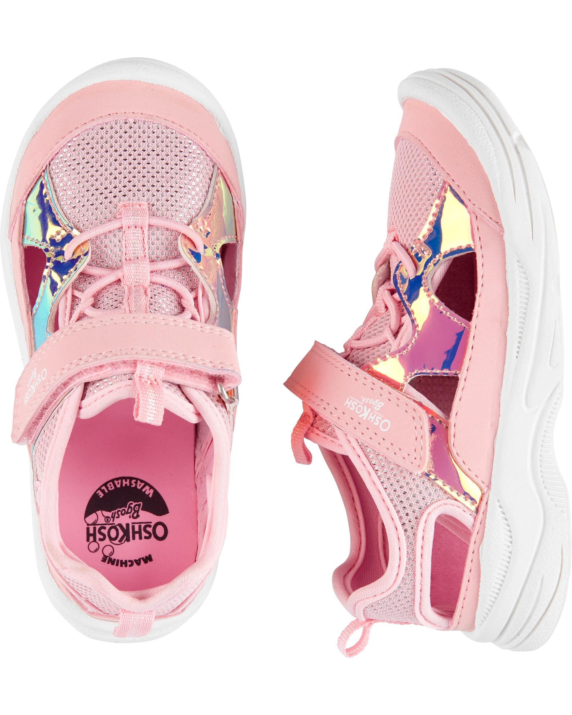 Holographic Bump Toe Athletic Sneakers