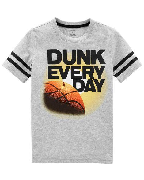 df4a8e74de7d Kid Boy Basketball Jersey Tee