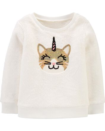 Cat Unicorn Fuzzy Sweatshirt