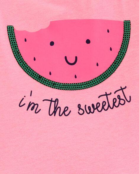 Watermelon Peplum Hem Top