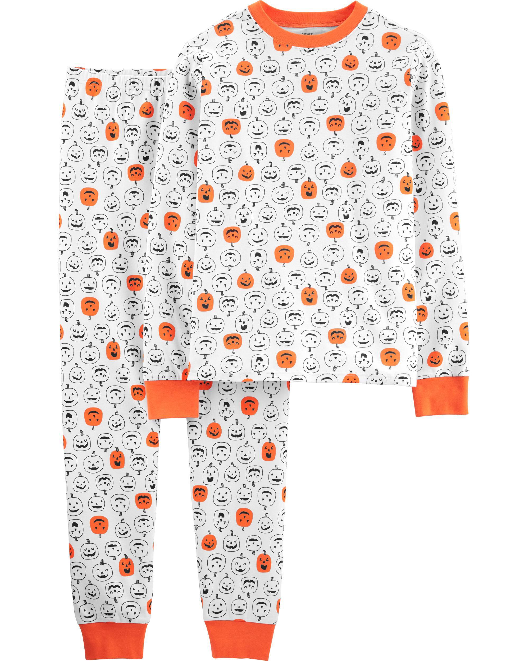 *CLEARANCE*2-Piece Pumpkins Cotton PJs for Adults