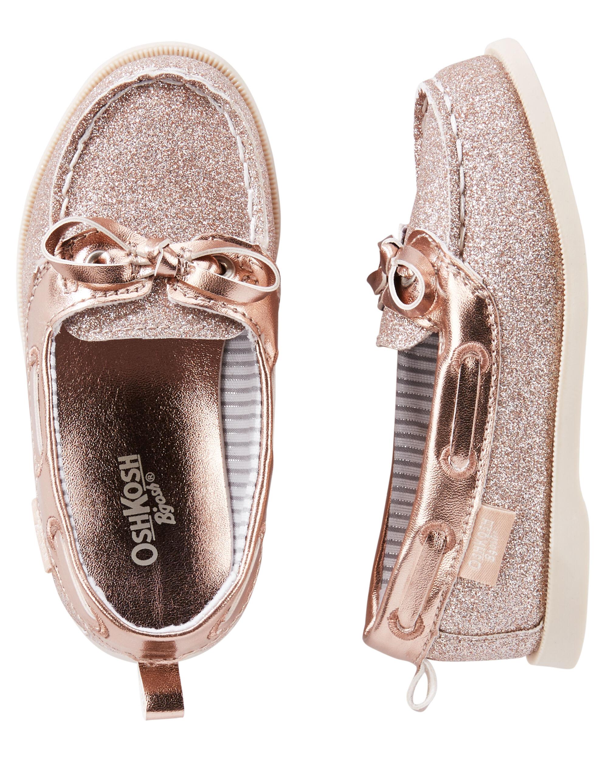 OshKosh Rose Gold Sparkle Boat Shoes