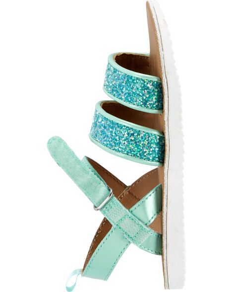 OshKosh Turquoise Glitter Sandals