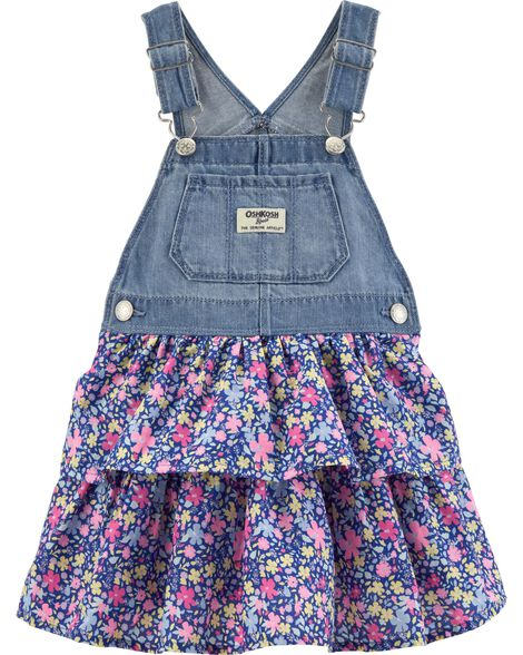 Floral Denim Jumper