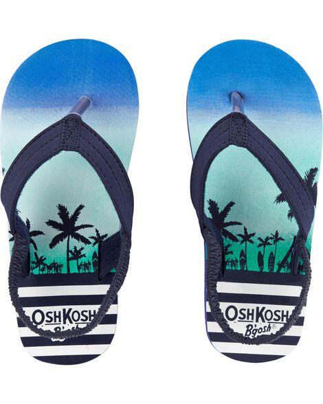OshKosh Palm Tree Flip Flops