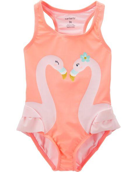 88c3b785156 Toddler Girl Carter s Flamingo 1-Piece Swimsuit