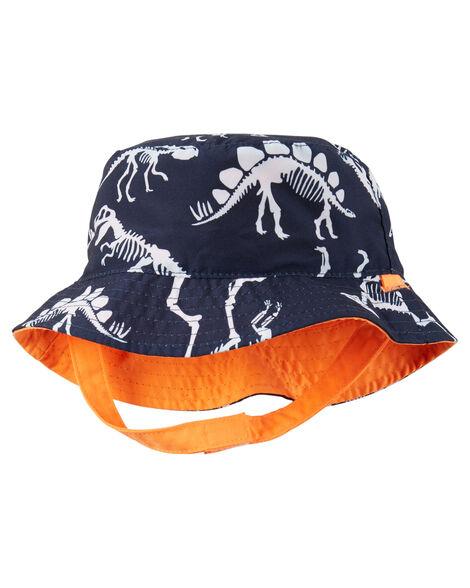 03b774aec94cb Toddler Boy Reversible Dino Print Bucket Hat