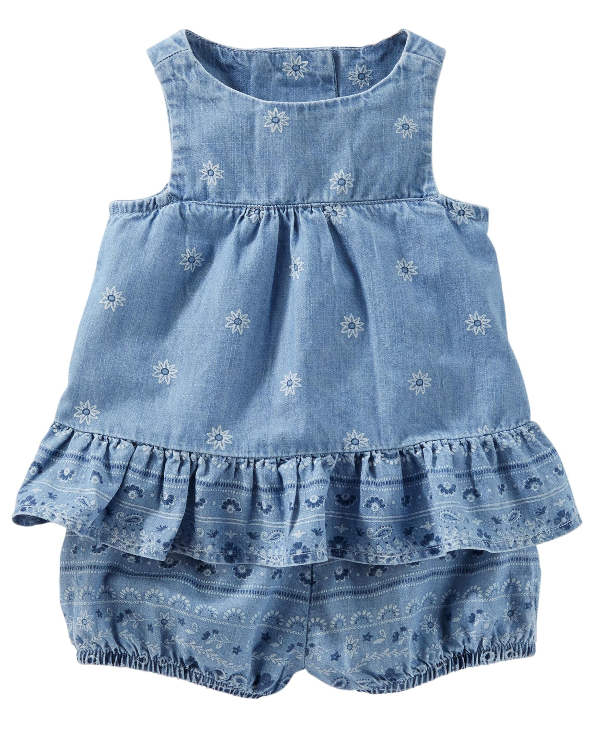 Child Of Mine By Carters Baby Girl Size 0-3M Lot Of 3 Rompers//One Pieces NEW!