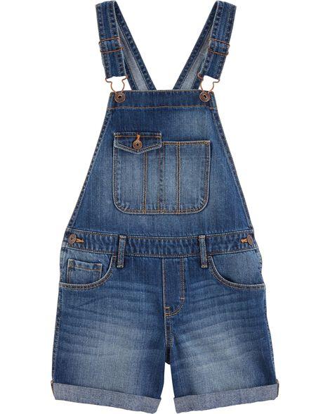 Denim Shortalls - Fashion Medium Wash