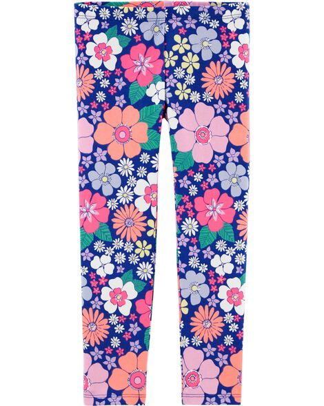 Neon Floral Leggings
