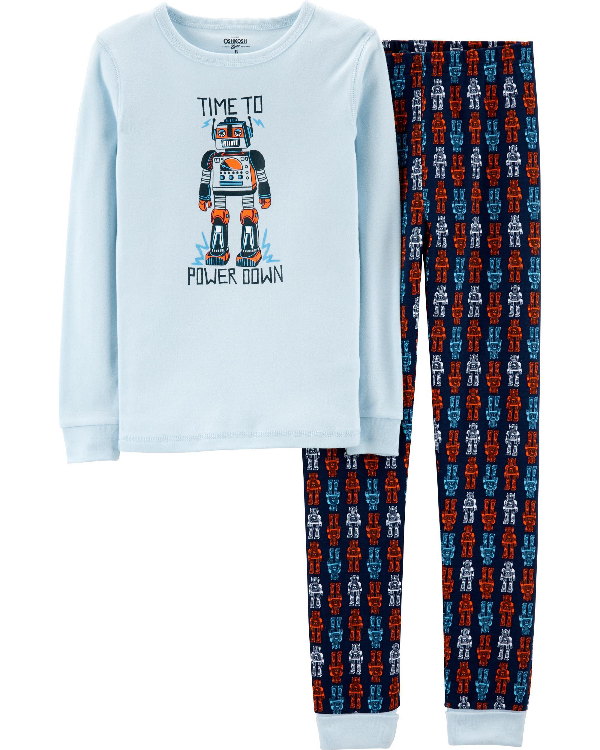 ab81975b1115 Snug Fit Robot Cotton PJs