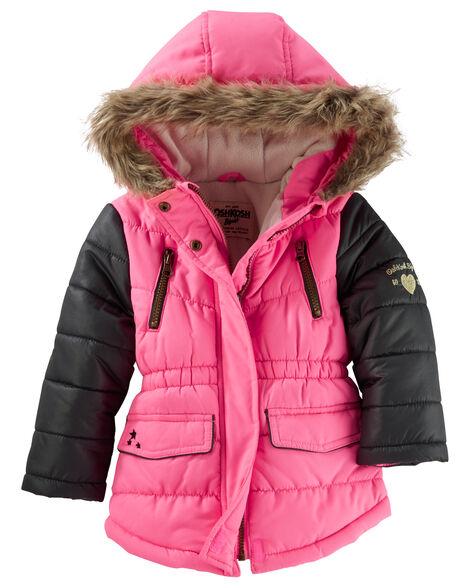 b817ab412418 OshKosh Faux Fur Hooded Heavyweight Parka