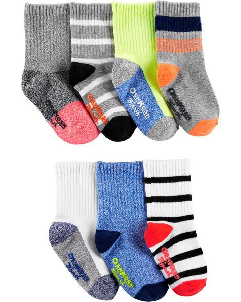 7-Pack Striped Crew Socks