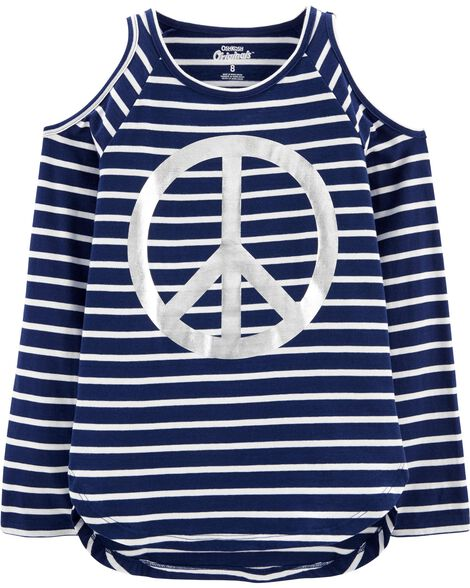 Peace Cold Shoulder Tunic