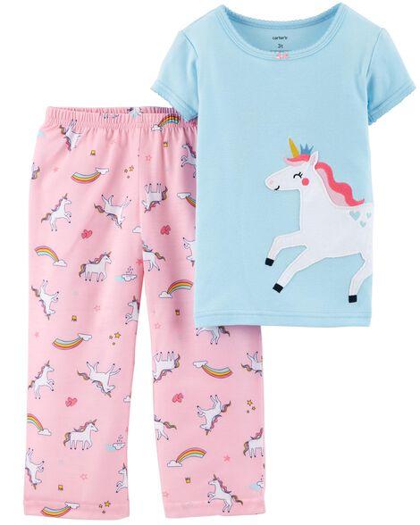 b863d7e3255f 2-Piece Unicorn Cotton   Poly PJs