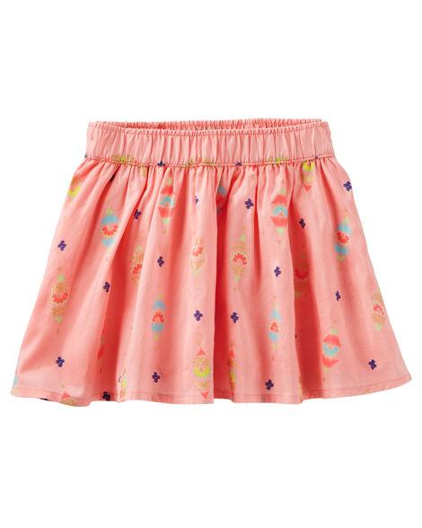 Geo Print Skirt