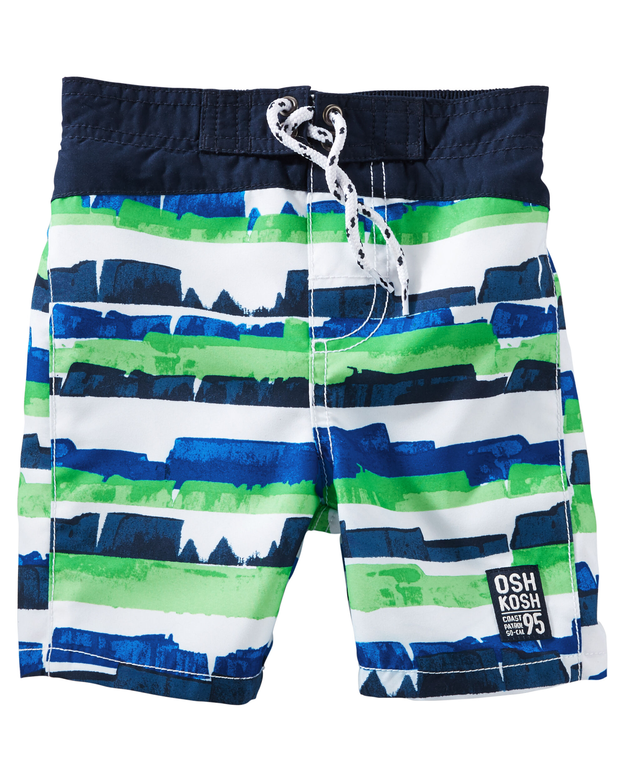 OshKosh Abstract Stripe Swim Trunks