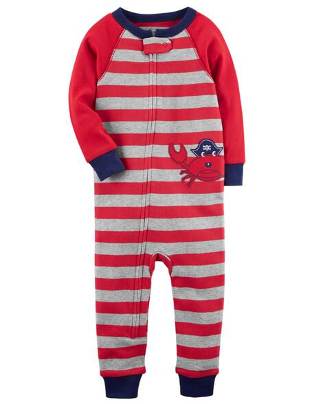 62327e3ac016 Baby Boy 1-Piece Crab Snug Fit Cotton Footless PJs